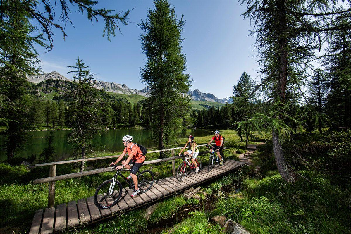 Gita in montagna in bici