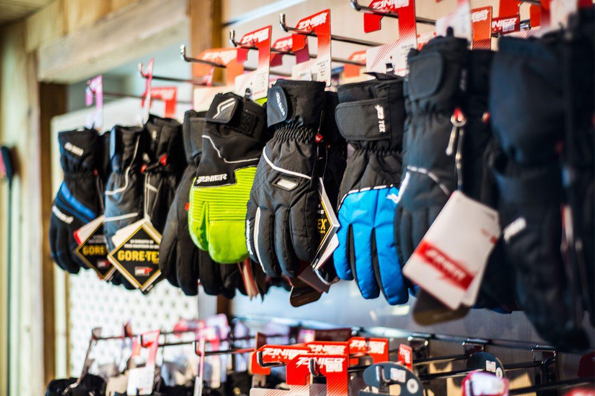 Negozio guanti da sci