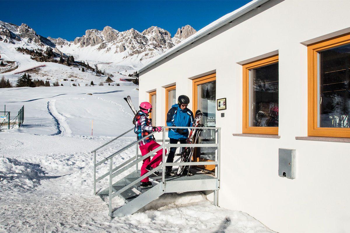 Entrata esterna skiroom