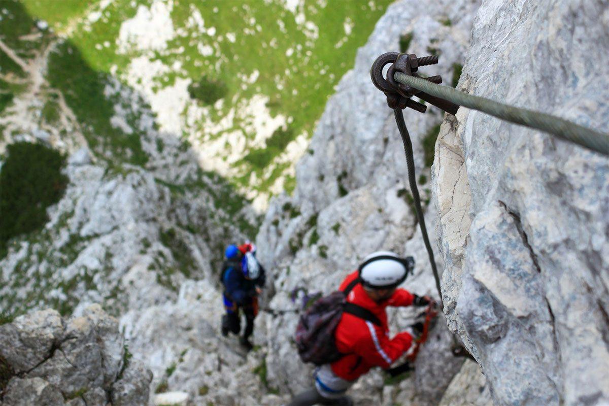Ferrata in Val di Fassa